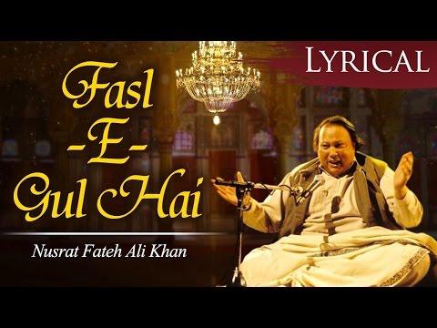 Fasl-E-Gul Hai Sharaab Pii Leejiye by Ustad Nusrat Fateh Ali Khan - Popular Qawwali Song