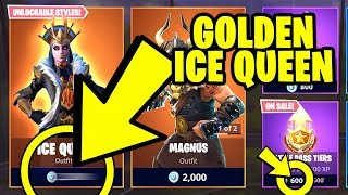 Fortnite 'NEW' GOLDEN ICE QUEEN SKIN - FREE DISCOUNT [21 février 2019] (Fortnite Item Shop)