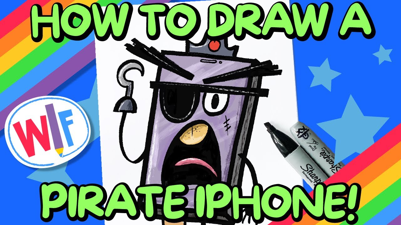 How To Draw A Pirate iPhone!