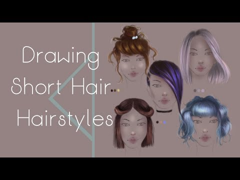 Drawing Short Hair Hairstyles + Free PSD file!