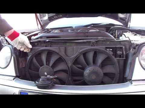 Замена ремня на вентиляторах кондиционера Mercedes-W210 Changing The Belt On The Air Conditioner Fan