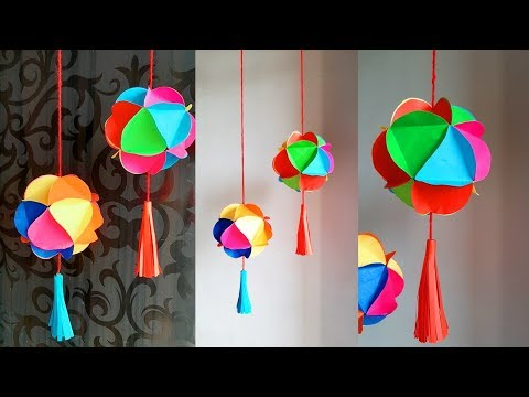 paper-ball-wall-hanging-ideas-|-home-decor-ideas-|-wall-decoration-ideas-for-diwali/-christmas