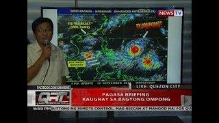 PAGASA briefing kaugnay sa Bagyong Ompong