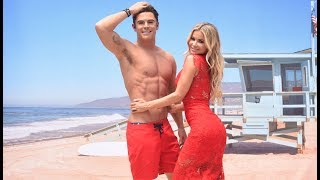 Carmen Electra Unveils Zac Efron's BAYWATCH Figure at Madame Tussauds Hollywood