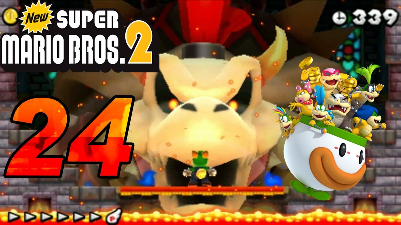 New Super Mario Bros  2 - 3DS! Let's Play New Super Mario Bros  2 Part 24  Final Secret Bossfight Dry Bowser [ENDE]