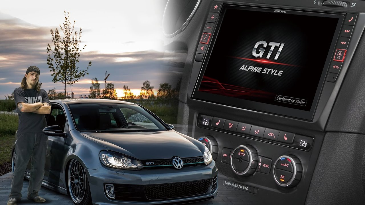 9 inch alpine style navigation for vw golf 6 youtube. Black Bedroom Furniture Sets. Home Design Ideas