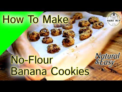 No-Flour Banana Cookies Healthy snack