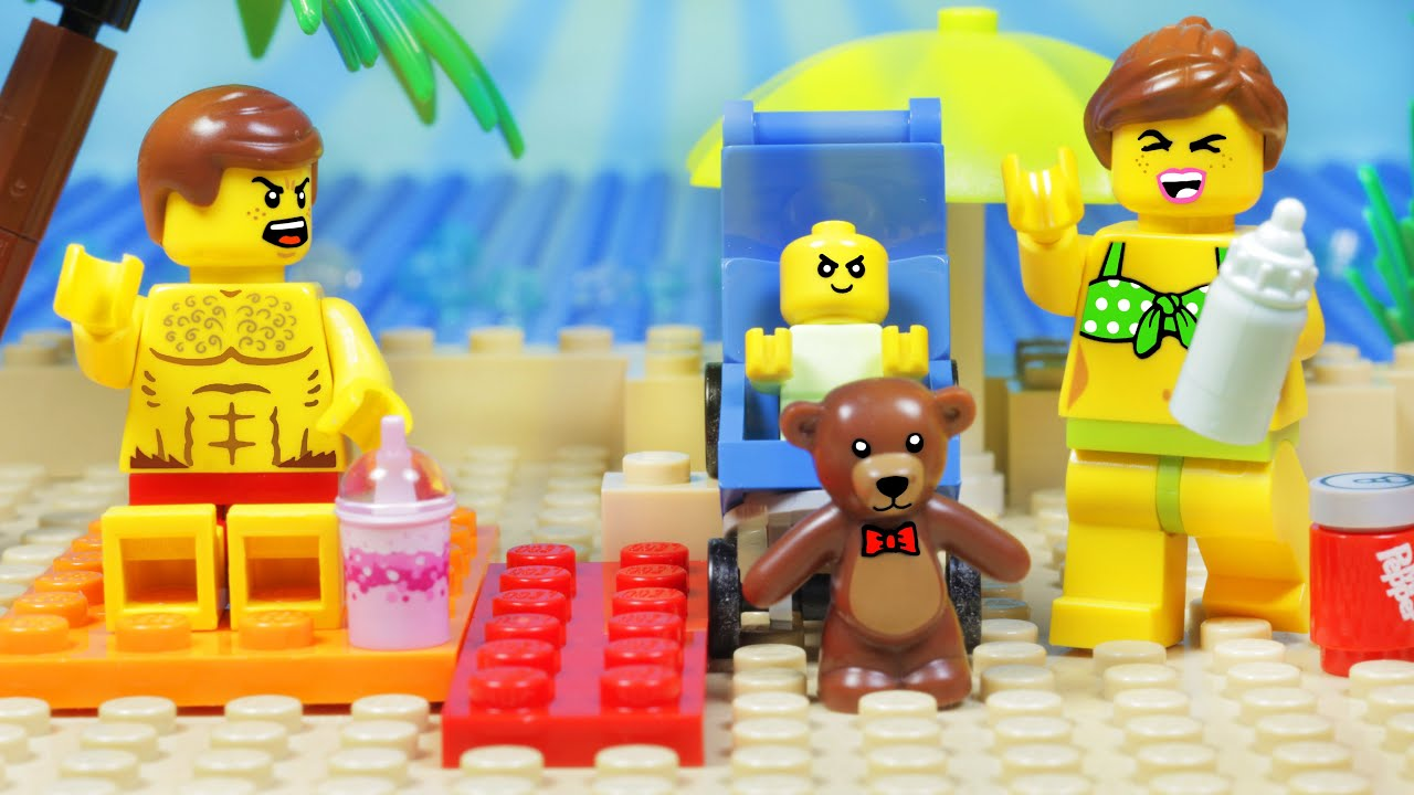 LEGO CITY BEACH HOLIDAY BABY FAIL