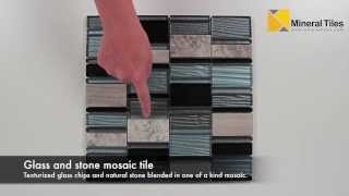 Modern Stone Glass Mosaic Tile Blue - 230ys01