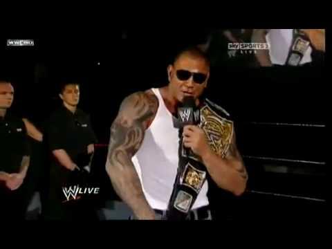 WWE BATISTA IMITATES JOHN CENA (HD)