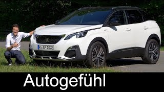 Peugeot 3008 GT-Line FULL REVIEW 165hp petrol test 2018 - Autogefühl