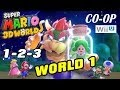 Let's Play Super Mario 3D Worlds - World 1 (1-2-3) Co-Op WiiU Gameplay pt. 1