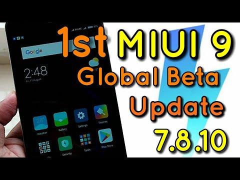 Miui 9 Global Beta 7.8.10 Update on Redmi Note 4 & Mi6   Hindi - हिंदी
