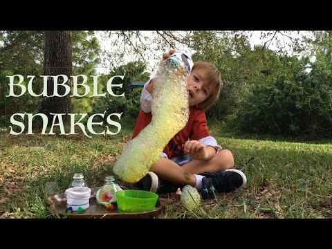 Soap Bubble Snakes