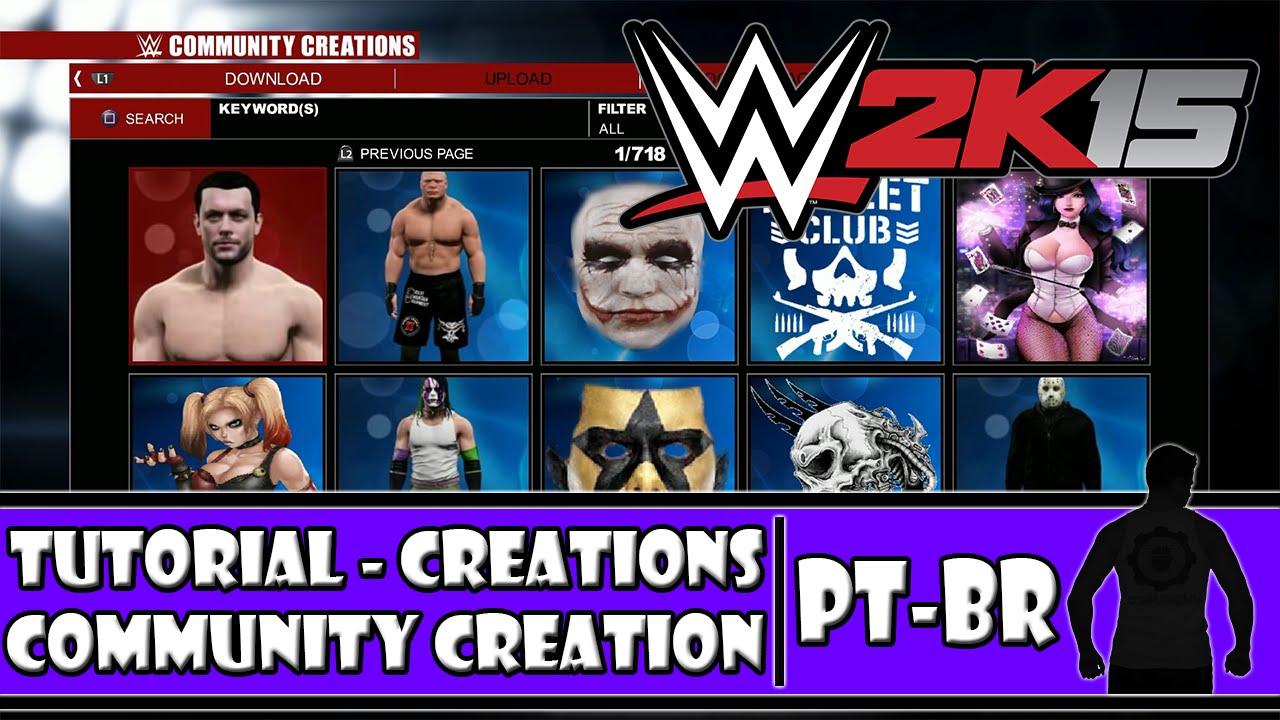creation logo wwe2k15