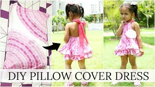 DIY Pillow Cover Dress - Kid Outfits, Fashion Ideas, Step By Step | ShrutiArjunAnand