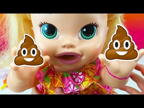 Ba Dolls Ba A Snackin Sara Eats Play Doh Food and Poops W Fun Factory and Play Doh Girl