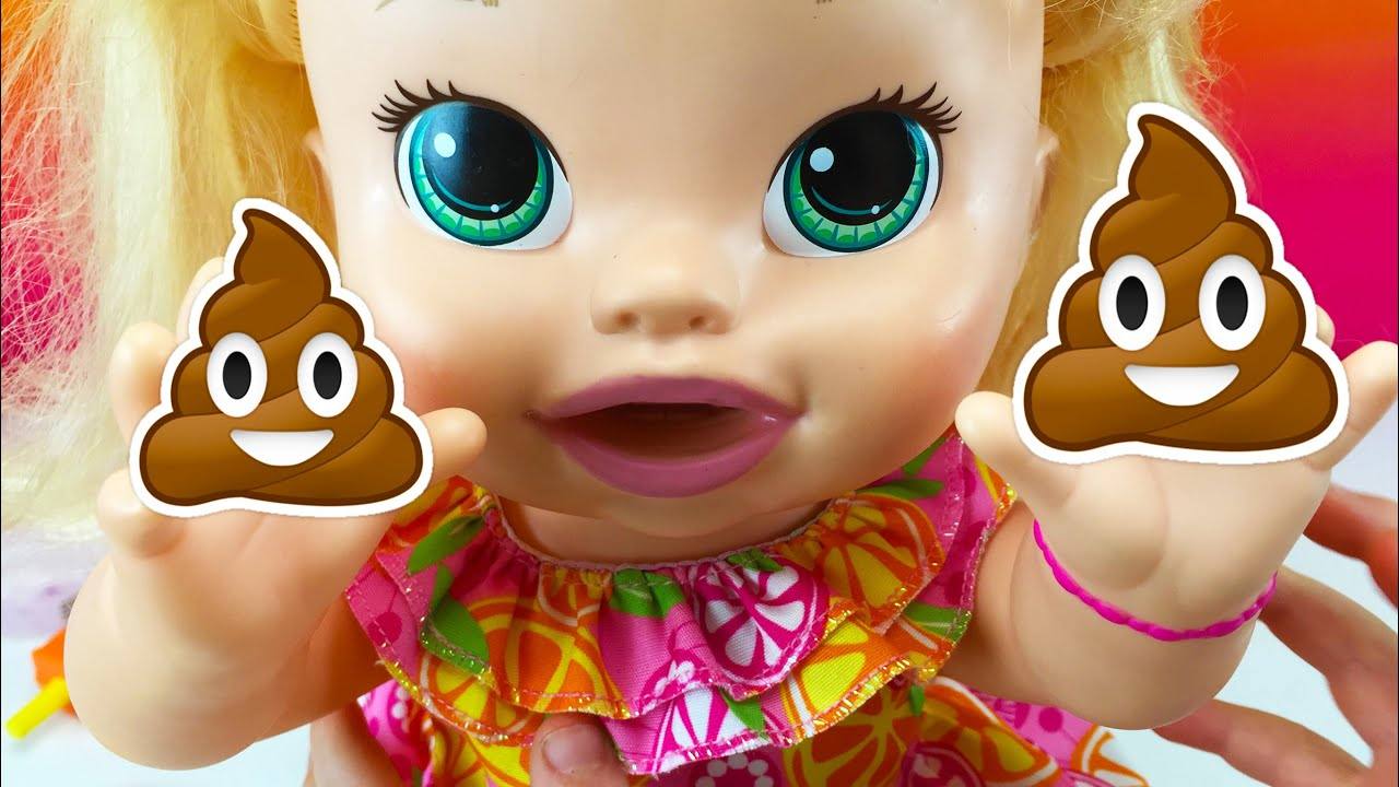 Baby Dolls Baby Alive Snackin Sara Eats Play Doh Food And