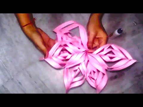 How to make snow flake with paper !! DIY paper crafts for decoration- cool and creative #1