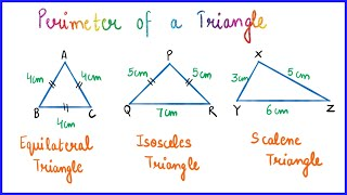 Perimeter of a Triąngle   Why Perimeter of Triangle is 3 X Side   Finding Side if Perimeter is given