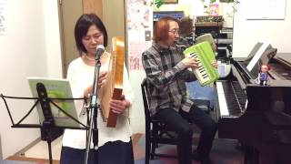 "Omoide No Nagisa"" Playing the Maria Harp, Piano and Andes. Performe..."