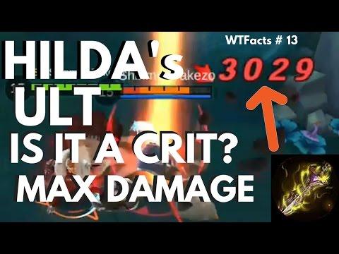 IS HER ULT A CRITICAL STRIKE?   HILDA MAX ULT DAMAGE   WTFacts # 13   Mobile Legends
