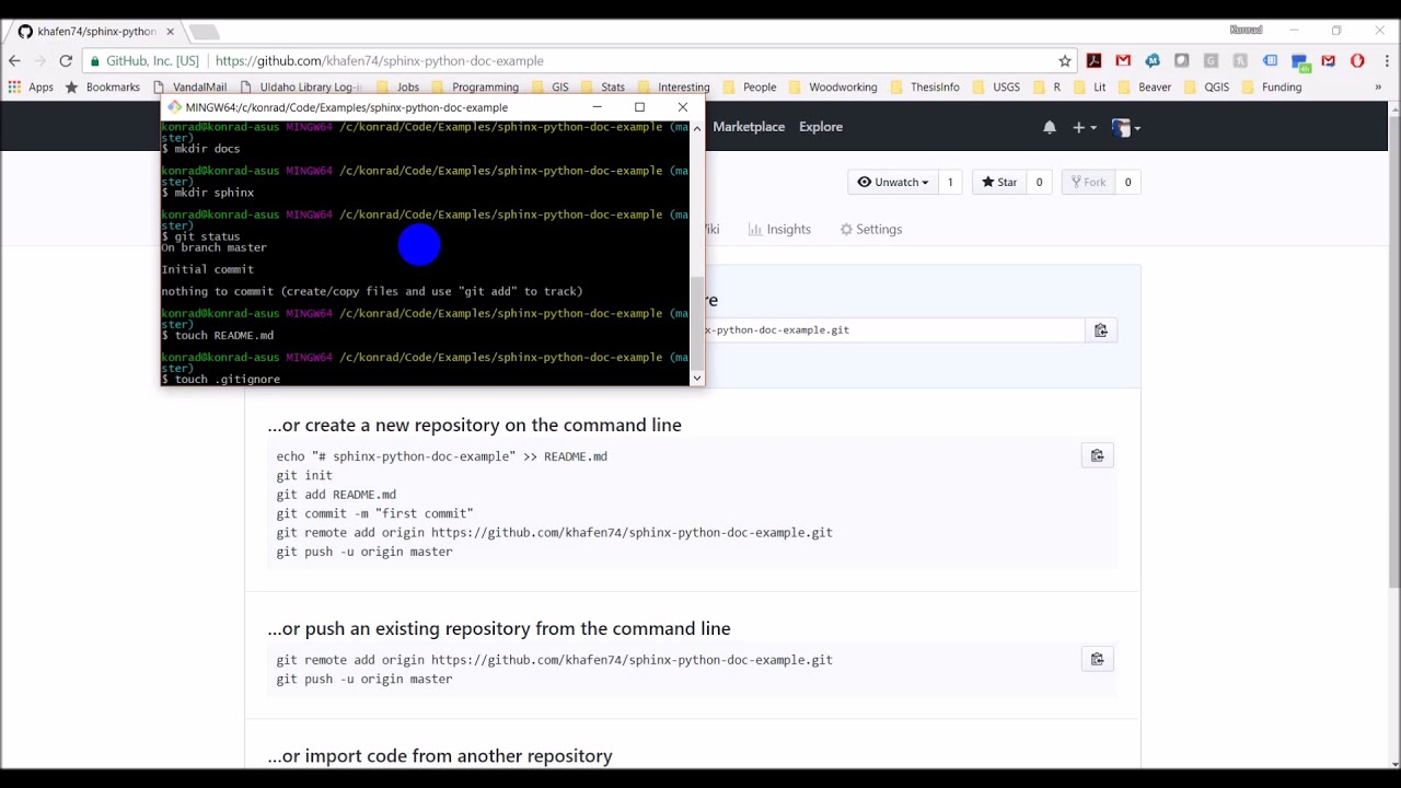 Python documentation website with Sphinx and GitHub - 01 - Setup repository  and install Sphinx