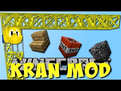 KRAN MOD in Minecraft! (Cranes & Construction Mod) [Deutsch]