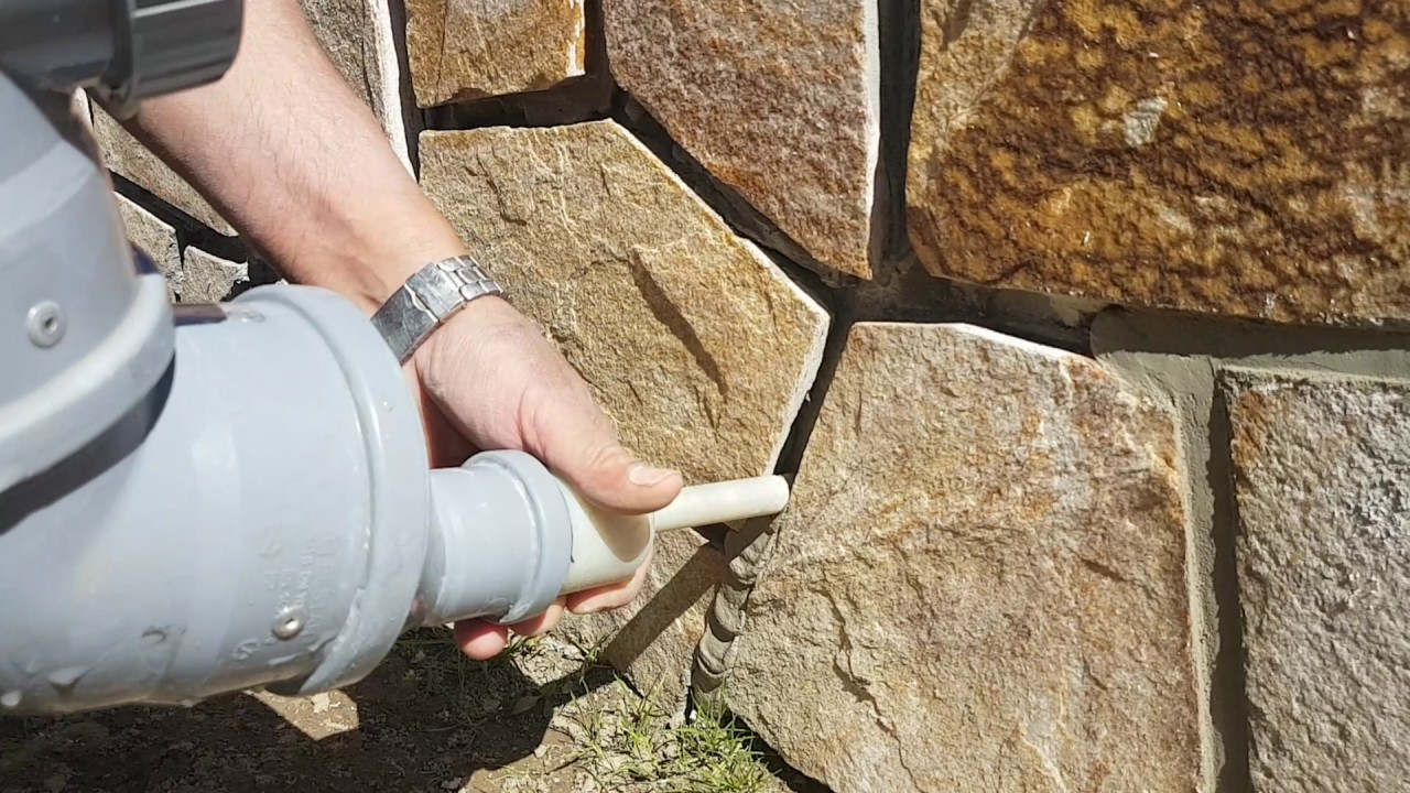 Grouting Natural Stone Joint Filling Verfuggen Youtube