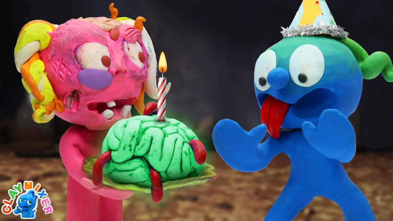 Download Head Banger - Tiny Rejected his Wormy Brain   Clay Mixer Stop Motion Animation Short Film