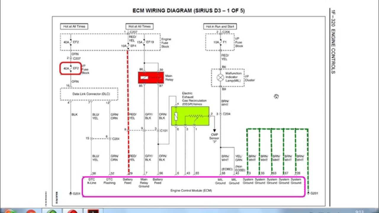 Diagrama Eléctrico General Matiz Spark  YouTube