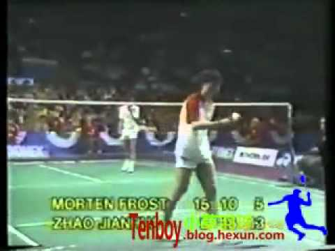 1985 All England MS Zhao Jianhua vs  Morten Frost