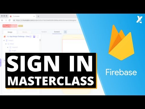 Thunkable X Sign Up Login Screen MasterClass