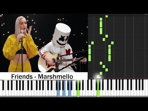 FRIENDS - Marshmello & Anne-Marie Oficial PIANO TUTORIAL