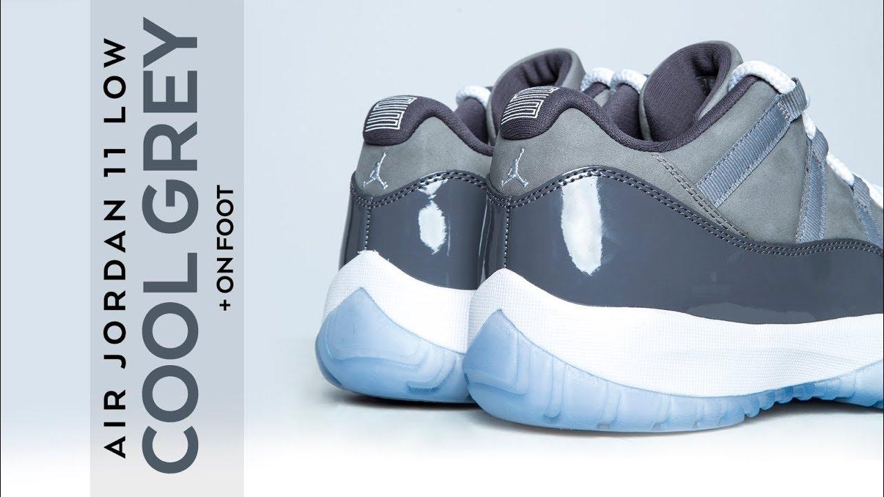 2e1926d31f48 FIRST LOOK  Air Jordan 11 Low  Cool Grey  + ON FOOT