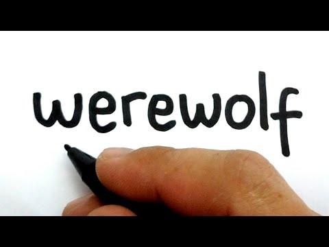 VERY EASY, How to turn words WEREWOLF into cartoon