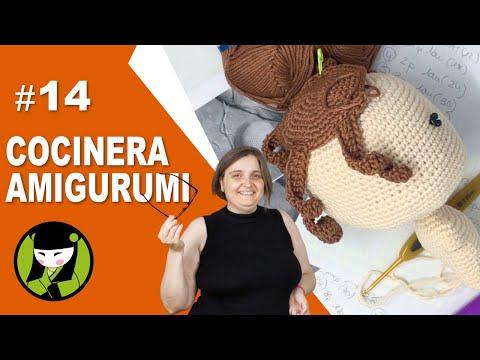 COCINERA A CROCHET 14 pelo amigurumi