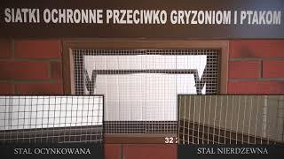 Siatka zabezpieczająca przeciw gryzoniom i ptakom firmy Szkłopol - prezentacja produktu