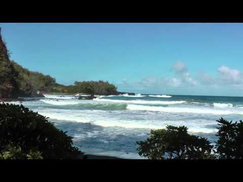 Koki Beach Park, Maui, Hawaii (near Hana) 1080p January 2013