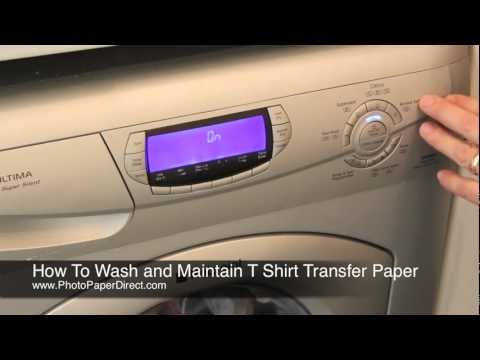 How To Wash and Maintain T Shirt Transfer Paper