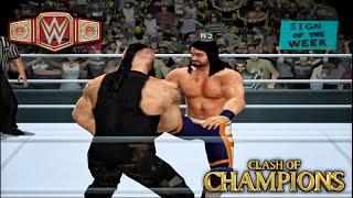 Seth Rollins vs Braun Strowman | Clash Of Champions WWE | #seth #strowman #clashofchampions