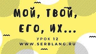 Сербский язык. Урок 12. Притяжательные местоимения