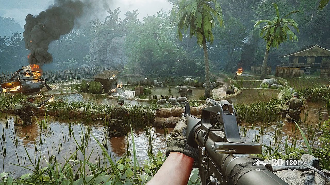 Vietcong Rice field Ambush - Vietnam Gameplay - Call of Duty Black Ops Cold War