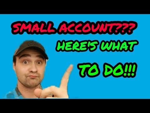 HOW TO TRADE WITH A SMALL ACCOUNT | LIVE Q&A
