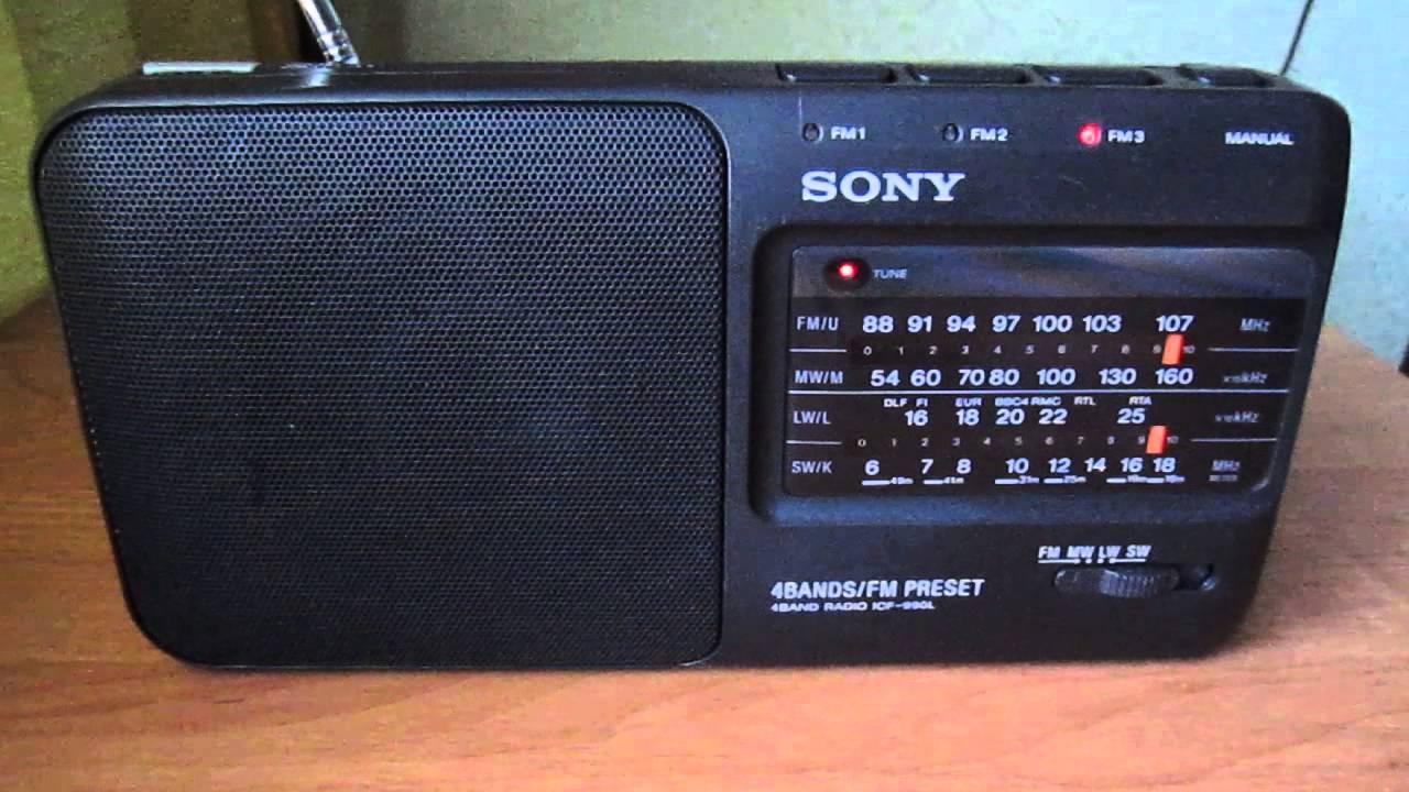 uNBOX Radio Am Fm Portatil Sony Icf-24 Pilas/110v Portatil Manija .