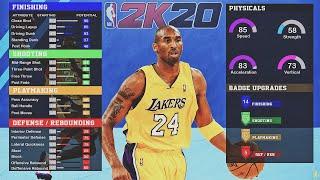 KOBE BRYANT BUILD in NBA2K20! DEMIGOD SCORING MACHINE BUILD! BEST SHOOTING GUARD BUILD in NBA 2K20!