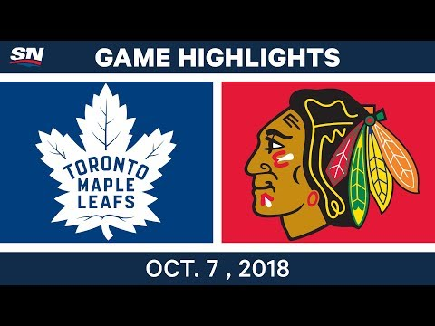 NHL Highlights | Maple Leafs vs. Blackhawks - Oct. 7, 2018