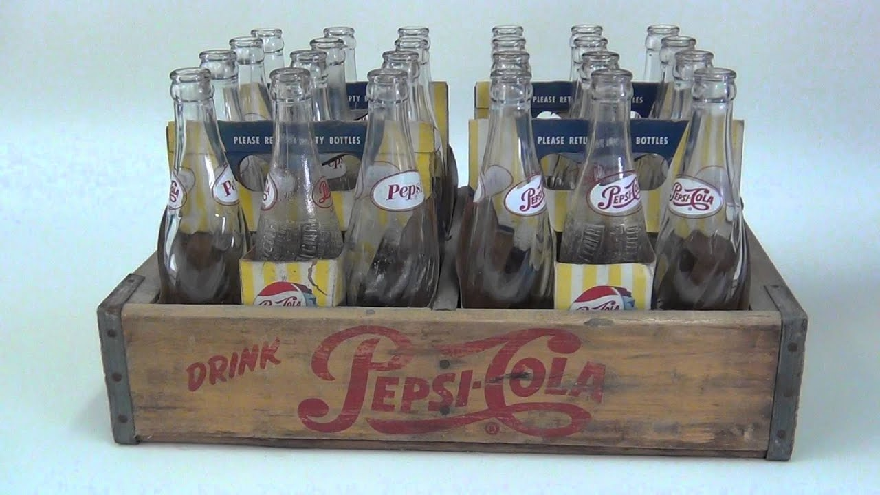 Antique Pepsi-cola Bottles Complete Set Dubs Treasure