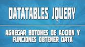DATATABLES JQUERY 05: Como reinicializar | How reinitialise - YouTube