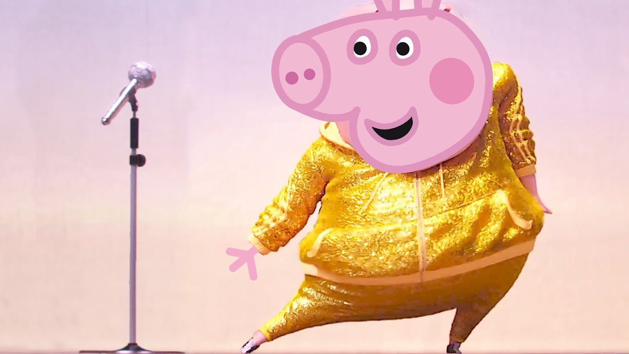 Sing Characters Gunter And Rosita Becomes Peppa Pig And George